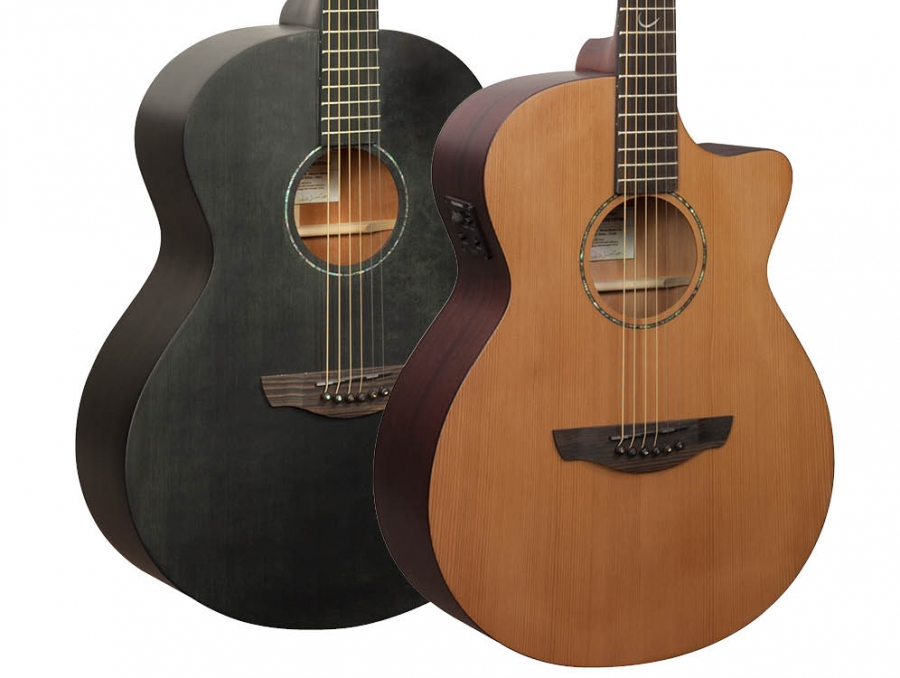 New Naked 'Black Stain' & 'Cedar/Mahogany' guitars