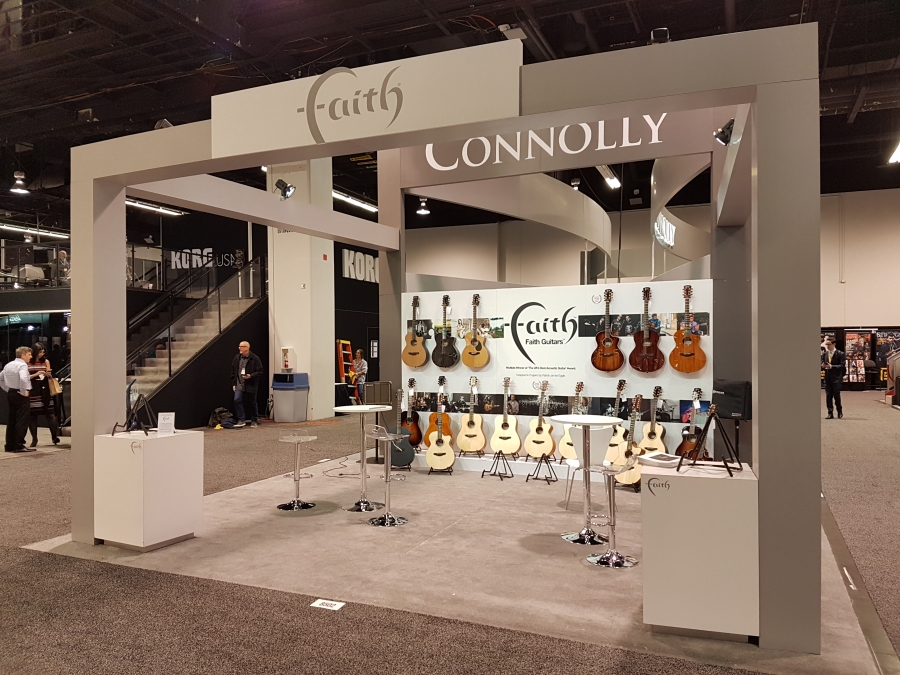 Faith Guitars at NAMM Show 2019.